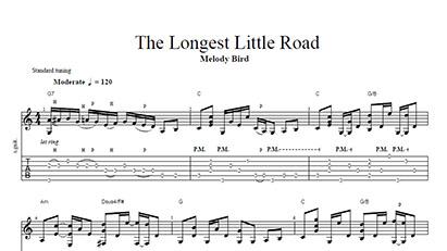 The Longest Little Road - Tab